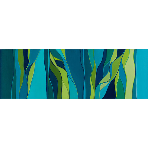 """""""Terraced"""" by Karen Eastman, 36x12"""" wrapped canvas (no frame)"""